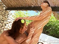 Outdoor Lesbian Scene With Teen Russian Hotties