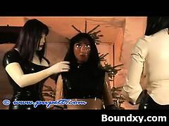 punishment loving latex mature domination