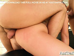 Pamela's big ass is ready for pounding. Two guys take turns