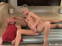 Sexy Blonde Babe Gives A Great Erotic Part1