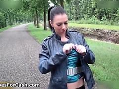 nasty-brunette-walking-on-the-street-part3