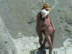 Couple Fucks On Nude Beach