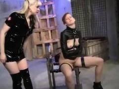 Lesbian Femdom Spank And Strapon Fuck