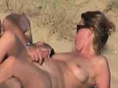 Husband And Wife At The Beach