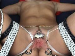 Extreme Tortured 299 Orgasms Bondage Vibrator tied Clitoris