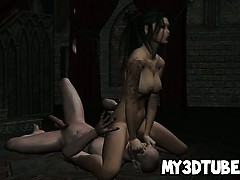 Tattooed 3d Cartoon Goth Honey Getting Fucked Hard
