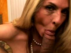 Classy Glamour Blonde Milf Sucks A Cock