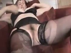 Mature Woman Teasing Her Hairy Pussy