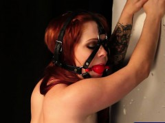 Pantyhose Slave Spanked And Gagged