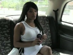 Ebony Customer Pounded By Fake Driver In The Backseat