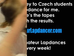 Hot Czech Student Does Sexy Lapdance