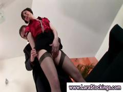 Mature Lady In Stockings Touches Herself