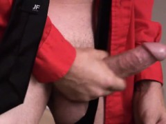 Gay Mature Amateur Jerking Off In The Office