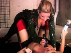mistress-in-latex-toying-sub-blonde-lesbian