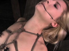 Restrained Sub Gets Nipples Punished
