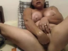 Squirting Orgasm 48 Years Old Busty Anna
