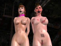 Two Sexy 3d Babes Sucking And Riding A Hard Cock