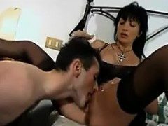 Tattooed Latin Milf With Two Guys In A 3some