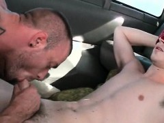 Straight Boy Gets His First Gay Blowjob