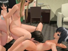 3d Hentai Gangbang With Hentai Girls Sharing Cock