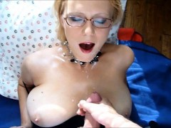 Milf Sprayed With A Young Man's Hot Cum
