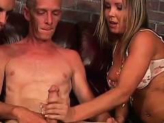 grandpa in a bisexual mmf with woman couple WWW.ONSEXO.COM