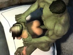3d Cartoon Babe Gets Fucked Outdoors By The Hulk