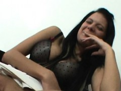 tattooed-brunette-plays-with-dildo-at-her-first-casting-ever
