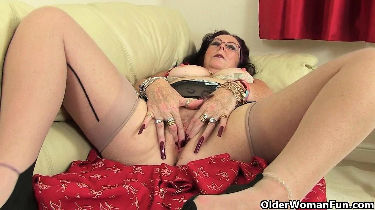 British granny zadi fucks herself with a dildo mature