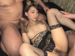 Perfect Asian Beauty Kurea Hasumi Gets Fucked Bye Two Horny