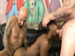 Black Teen Girl Dominated By Whites