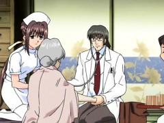 cute hentai nurse enjoying erotic massage