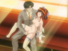 Redheaded Hentai Teen Gets Fucked Rough On The Subway