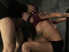 Chained Teen Gets Gagged Roughly!