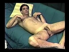 Amateur Mature Man Mark Jacks Off And Cums