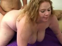 Fat Blonde Gets Dick Harpooned