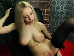 sexy-blonde-chick-strips-and-masturbates