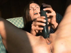 naughty-gal-pushes-glass-dildo-in-wet-snatch-and-ass