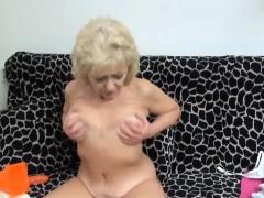 Moaning Masturbating Granny