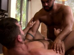 Mature Dilf Cocksucked By Muscle