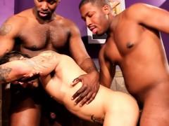 Pissing Ebony Assfucking White Stud