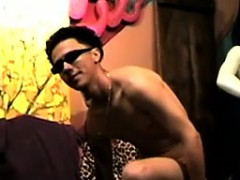Horny Latino Dude Sticks His Cock In A Doll And Jerks It Off