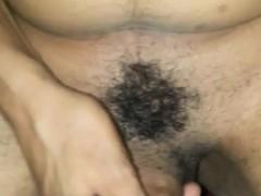 Skinny Black Milf Gets Her Creamy Pussy Fucked