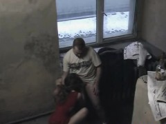 Security Cam Captures Girl Sucking And Fucked