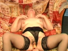 Hairy Granny Gets Her Pussy Satisfied