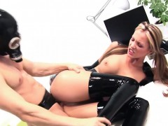 Kinky Latex Babe Enjoys A Good Fucking At Work