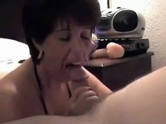 Cougar Sucks Small Man Off While Husband Launches Movie