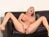 Hot Blake Rose displays her big hooters and takes her pussy to orgasm