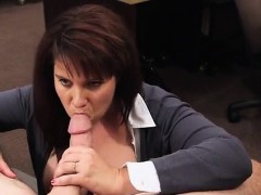 Shane diesel brunette milf MILF sells her husband's stuff fo
