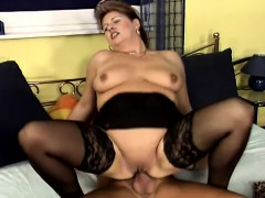 horny-milf-nancy-puts-on-her-sexy-black-lingerie-and-fucks-a-hard-cock
